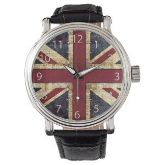 Grunge Union Jack Horloge