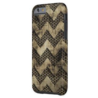 Grungy Metaal kijkt het Patroon van de Chevron Tough iPhone 6 Hoesje