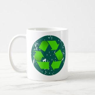 grungy recyclene koffiemok