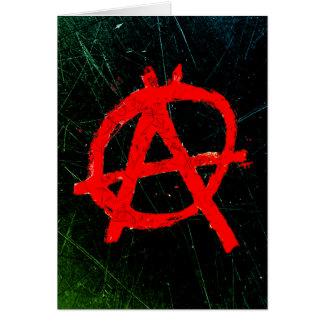 Grungy Rode Symbool van de Anarchie Kaart