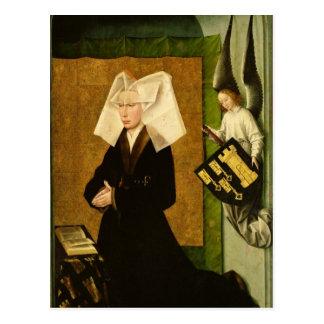 Guigone DE Salins, vrouw van de donor Briefkaart