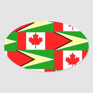 Guinese Canadees Ovale Sticker