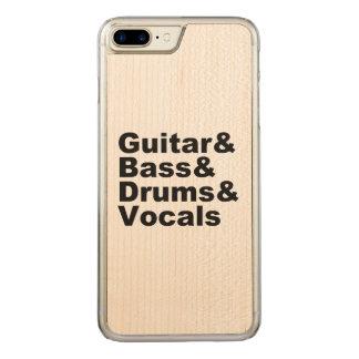 Guitar&Bass&Drums&Vocals (blk) Carved iPhone 8 Plus / 7 Plus Hoesje