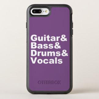 Guitar&Bass&Drums&Vocals (wht) OtterBox Symmetry iPhone 8 Plus / 7 Plus Hoesje
