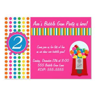 Gumball nodigt uit 12,7x17,8 uitnodiging kaart