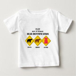 Gummi draagt waarschuwend - het Wild Tahoe Baby T Shirts