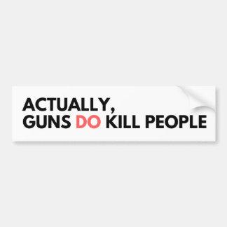 Guns Do Kill Mensen - de Sticker van de Bumper