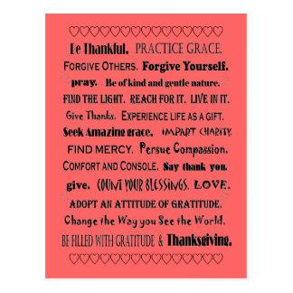 gunst en dankbaarheid briefkaart