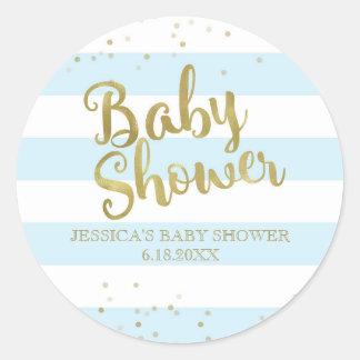 Gunst van de Jongen van het Baby shower van de Ronde Sticker