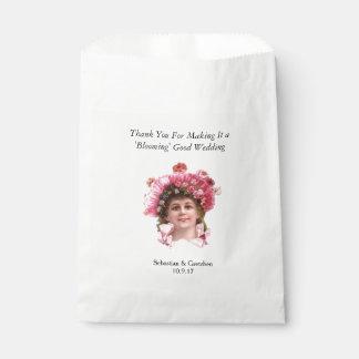 GUNST van het HUWELIJK van het Meisje van de bloem Bedankzakje