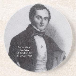 Gustav Albert Lortzing Zandsteen Onderzetter