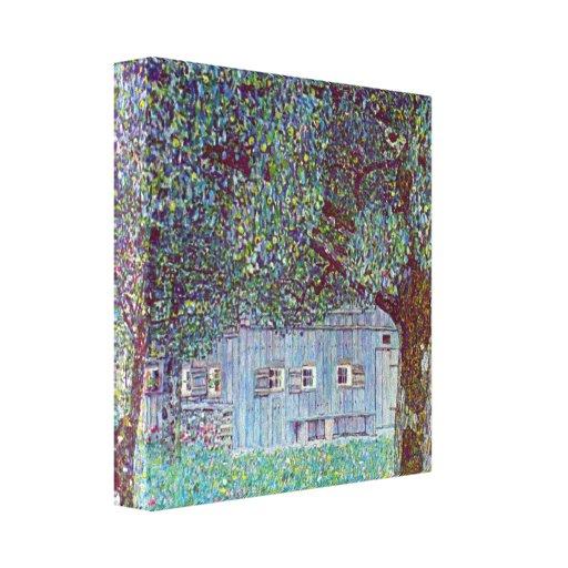 Gustav Klimt - Boerderij in Boven-Oostenrijk Gallerij Wrapped Canvas