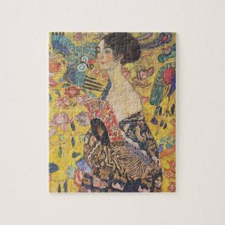 Gustav Klimt Dame With Fan Raadsel Foto Puzzels
