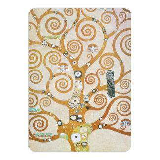 Gustav Klimt de Boom van de Jugendstil van het 12,7x17,8 Uitnodiging Kaart