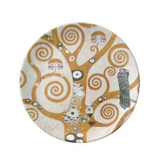 Gustav Klimt de Boom van de Jugendstil van het Porseleinen Bord