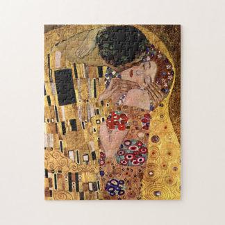 Gustav Klimt: De kus (Detail) Legpuzzel