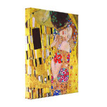 Gustav Klimt - de Kus Gallerij Wrap Canvas