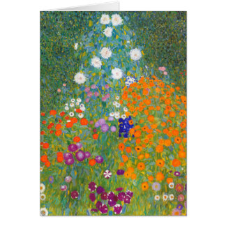 Gustav Klimt: De Tuin van de bloem Kaart