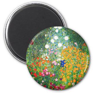 Gustav Klimt Flower Garden Magnet Ronde Magneet 5,7 Cm