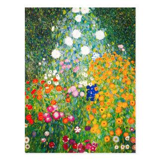 Gustav Klimt Flower Garden Postcard Briefkaart