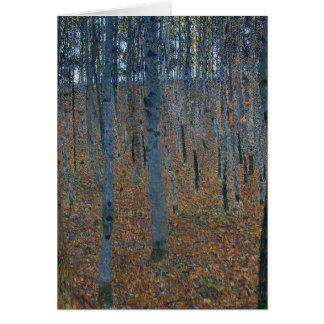 Gustav Klimt - het Bosje van de Beuk. Het Wild van Kaart