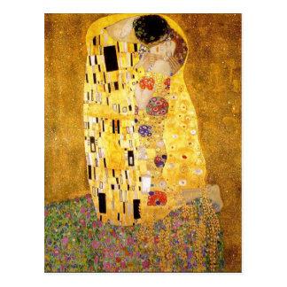 Gustav Klimt het Briefkaart van de Kus Wens Kaarten