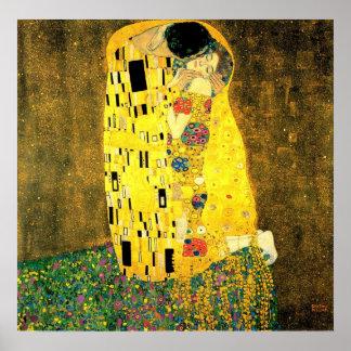 Gustav Klimt - het Poster van de Kus