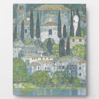 Gustav Klimt - Kerk in het werk van de Kunst Fotoplaat