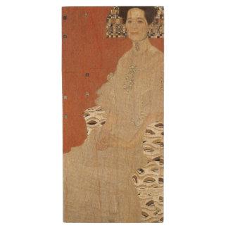 GUSTAV KLIMT - Portret van Fritza Riedler 1906 Houten USB Stick