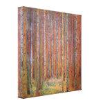 Gustav Klimt - Tannenwald I Canvas Afdruk