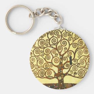Gustav Klimt Tree van de Zeer belangrijke Keten Sleutelhanger