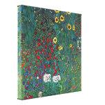 Gustav Klimt - Tuin met Kruisbeeld 2 LG Canvas Afdrukken
