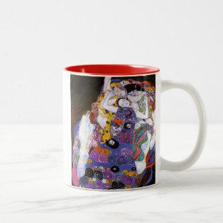 Gustav Klimt , Virgins Tweekleurige Koffiemok