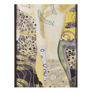 Gustav Klimt- Watersnakes Briefkaart