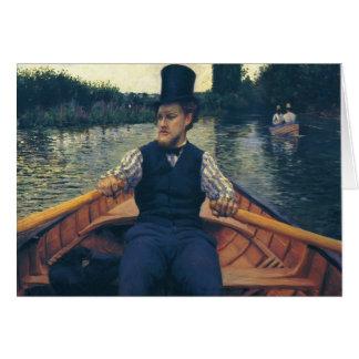 Gustave Caillebotte- Rower in Hoge zijden Wenskaart