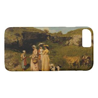 Gustave Courbet - Jonge Dames van het Dorp iPhone 7 Hoesje