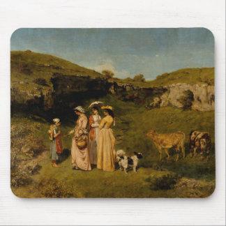 Gustave Courbet - Jonge Dames van het Dorp Muismat