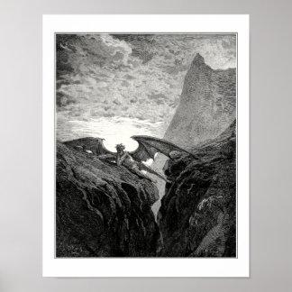 Gustave Dore: Nu Nacht begon haar cursus Poster