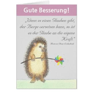 """""""Gute Besserung"""" Karte mit kleinem Igel Briefkaarten 0"""