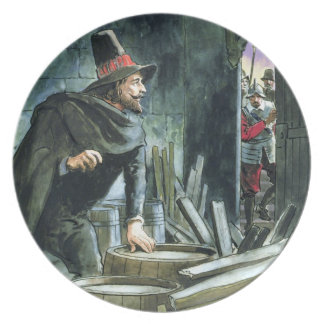 """Guy Fawkes, van """"Piepgeluiden in het Verleden"""", ge Melamine+bord"""