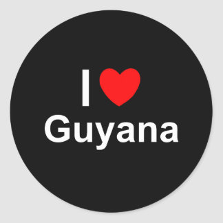 Guyana Ronde Sticker