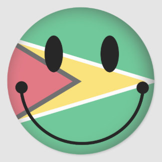 Guyana Smiley Ronde Sticker