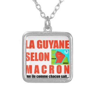 Guyana volgens Macron is een eiland Zilver Vergulden Ketting