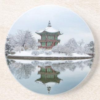 gyeongbok Aziatisch paleis Zandsteen Onderzetter