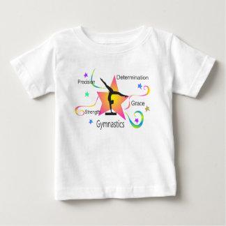 Gymnastiek - de Bepaling Grac van de Sterkte van Baby T Shirts