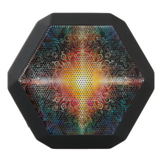 H103 kleurt het Hart Mandala 3 Zwarte Bluetooth Speaker