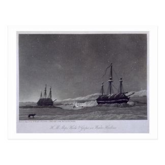 H.M. Schepen Hecla & Griper in de Haven van de Briefkaart
