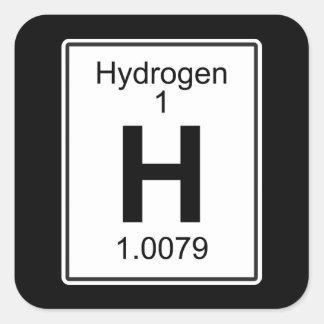 H - Waterstof Vierkante Sticker