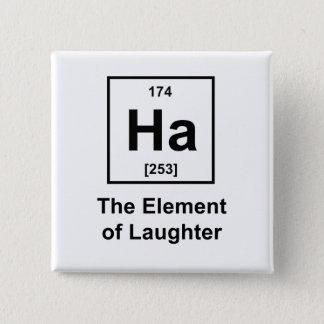 Ha, het Element van Gelach Vierkante Button 5,1 Cm