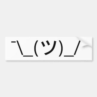 Haal Emoticon ¯ \ _(ツ) _/¯ Japanse Kaomoji op Bumpersticker